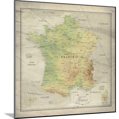 Carte de France-The Vintage Collection-Mounted Giclee Print