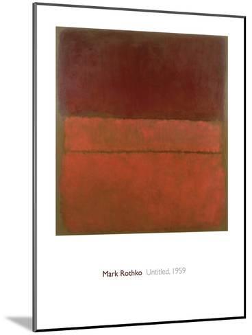 Untitled, 1959-Mark Rothko-Mounted Giclee Print