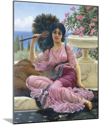 Peacock Fan-John William Godward-Mounted Giclee Print