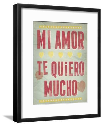 Te Quiero Mucho-Clara Wells-Framed Art Print