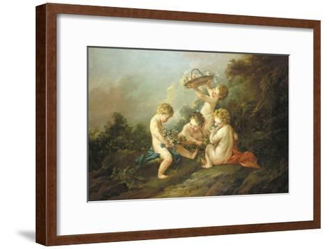 A Pair Of Putti I-Francois Boucher-Framed Art Print