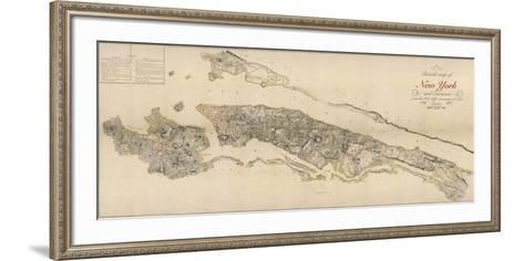 British Map of New York-The Vintage Collection-Framed Art Print