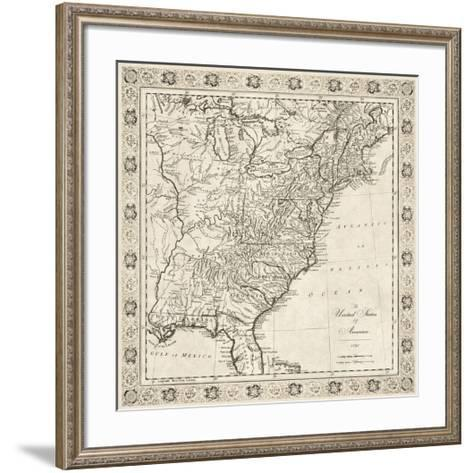 The United States of America, 1791-The Vintage Collection-Framed Art Print