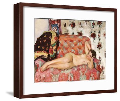Nu Allonge sur le Canape-Henri Lebasque-Framed Art Print
