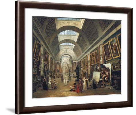 View of the Grand Gallery of the Louvre, 1796-Hubert Robert-Framed Art Print
