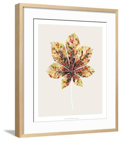 Fall Mosaic Leaf IV-Grace Popp-Framed Art Print