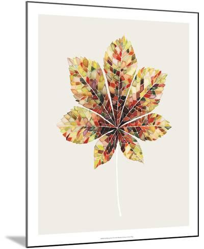 Fall Mosaic Leaf IV-Grace Popp-Mounted Giclee Print