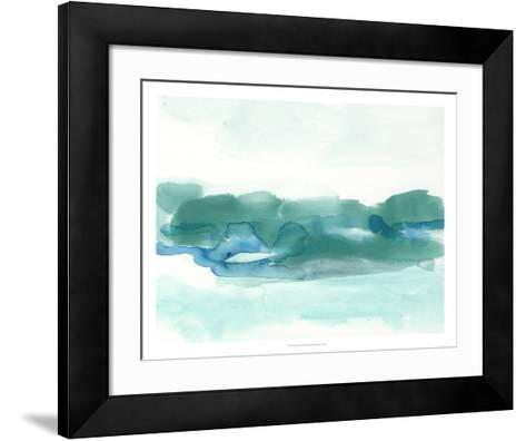 Teal Coast I-June Erica Vess-Framed Art Print