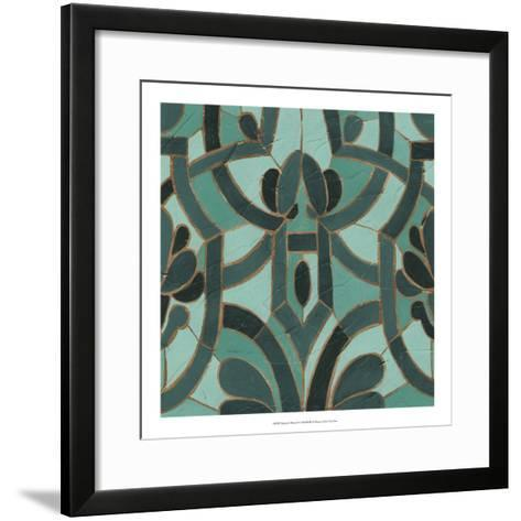 Turquoise Mosaic II-June Erica Vess-Framed Art Print