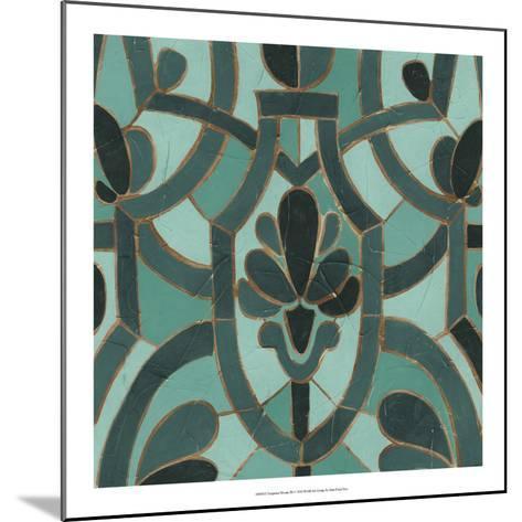 Turquoise Mosaic III-June Erica Vess-Mounted Giclee Print