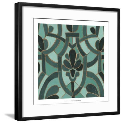 Turquoise Mosaic III-June Erica Vess-Framed Art Print