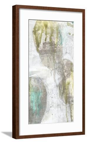 Citron and Teal Orbs I-Jennifer Goldberger-Framed Art Print