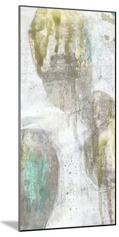 Citron and Teal Orbs I-Jennifer Goldberger-Mounted Art Print
