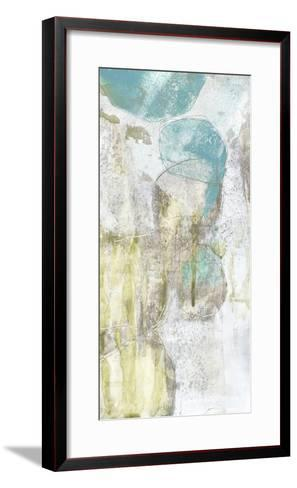 Citron and Teal Orbs II-Jennifer Goldberger-Framed Art Print