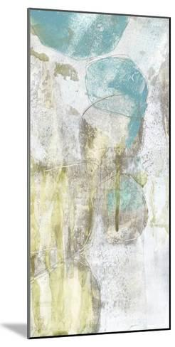 Citron and Teal Orbs II-Jennifer Goldberger-Mounted Art Print