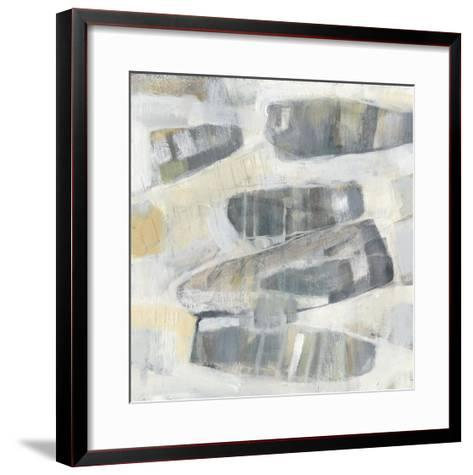 Grey Orbs I-Jennifer Goldberger-Framed Art Print
