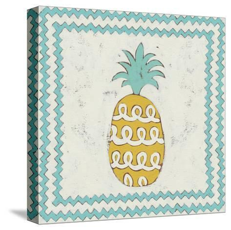 Pineapple Vacation IV-Chariklia Zarris-Stretched Canvas Print