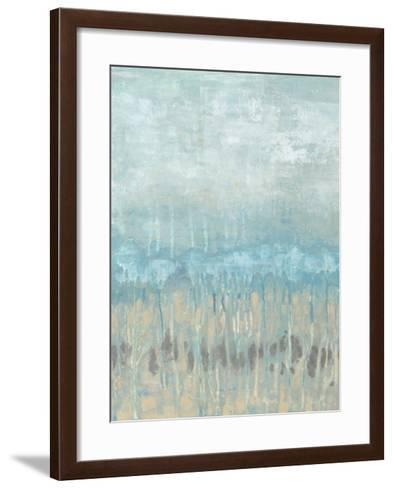 Coastline Abstraction I-Jennifer Goldberger-Framed Art Print