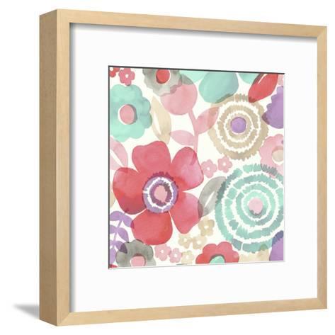 Ocean Shores Floral II-Diane Kappa-Framed Art Print
