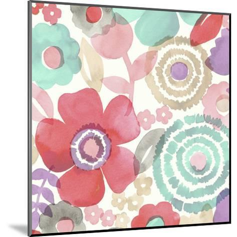 Ocean Shores Floral II-Diane Kappa-Mounted Art Print