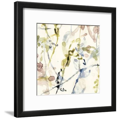Flower Drips IV-Jennifer Goldberger-Framed Art Print