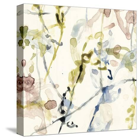 Flower Drips IV-Jennifer Goldberger-Stretched Canvas Print
