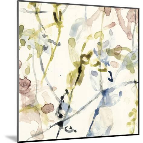 Flower Drips IV-Jennifer Goldberger-Mounted Art Print