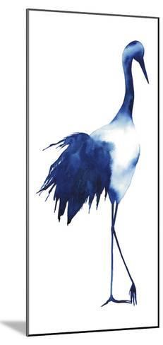 Ink Drop Crane I-Grace Popp-Mounted Art Print