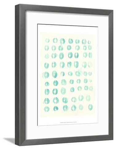 Blue Batik Motif I-June Erica Vess-Framed Art Print