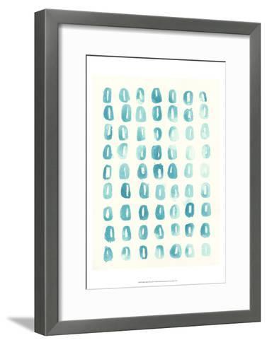 Blue Batik Motif IV-June Erica Vess-Framed Art Print
