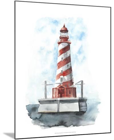 Watercolor Lighthouse IV-Naomi McCavitt-Mounted Giclee Print