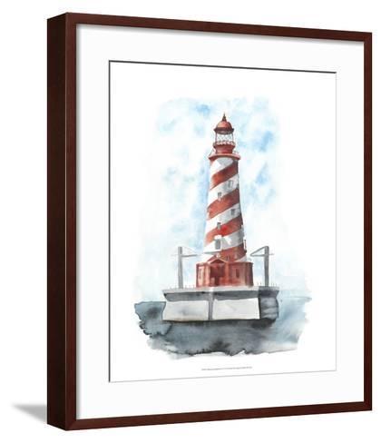 Watercolor Lighthouse IV-Naomi McCavitt-Framed Art Print