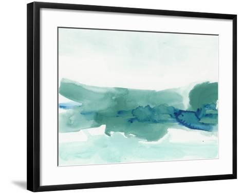 Teal Coast II-June Erica Vess-Framed Art Print