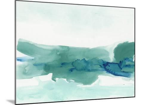 Teal Coast II-June Erica Vess-Mounted Giclee Print