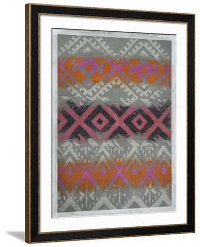 Frazada IV (Embellished)-Chariklia Zarris-Framed Art Print