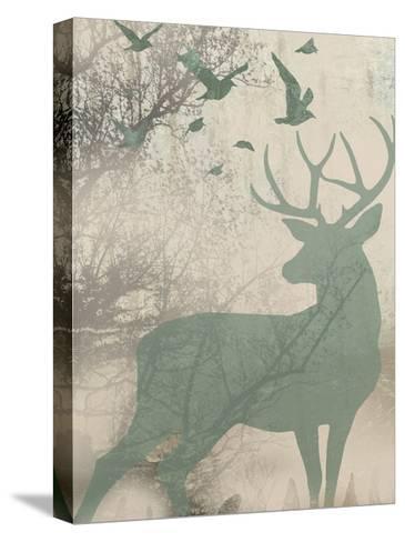 Deer Solace I-Jennifer Goldberger-Stretched Canvas Print