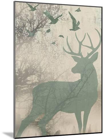 Deer Solace I-Jennifer Goldberger-Mounted Art Print