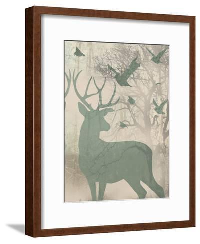 Deer Solace II-Jennifer Goldberger-Framed Art Print