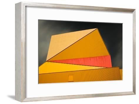 The yellow roof-Gilbert Claes-Framed Art Print