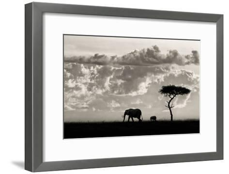 Silhouettes of Mara-Mario Moreno-Framed Art Print