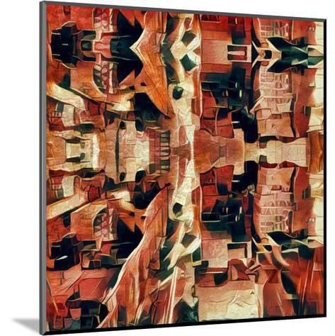 Distorted city scene 31-Jean-Fran?ois Dupuis-Mounted Art Print