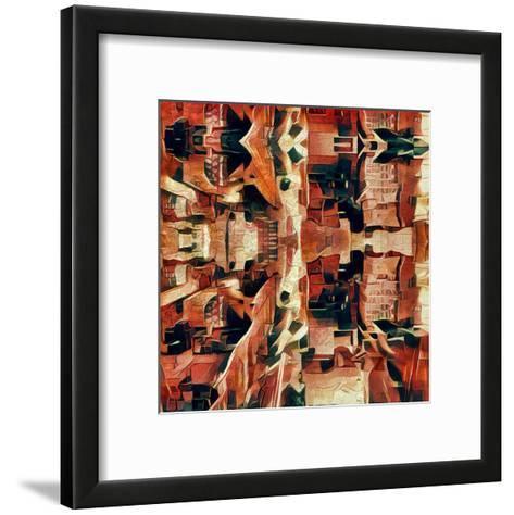 Distorted city scene 31-Jean-Fran?ois Dupuis-Framed Art Print
