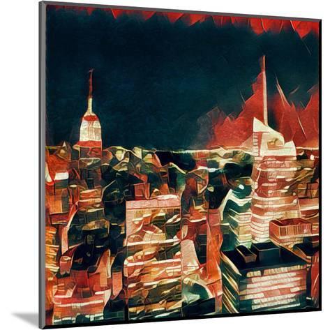Distorted city scene 32-Jean-Fran?ois Dupuis-Mounted Art Print