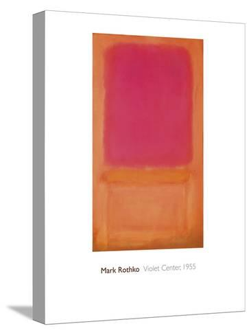 Violet Center, 1955-Mark Rothko-Stretched Canvas Print