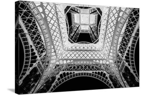 X-ray - Beneath the Eiffel Tower-John Harper-Stretched Canvas Print