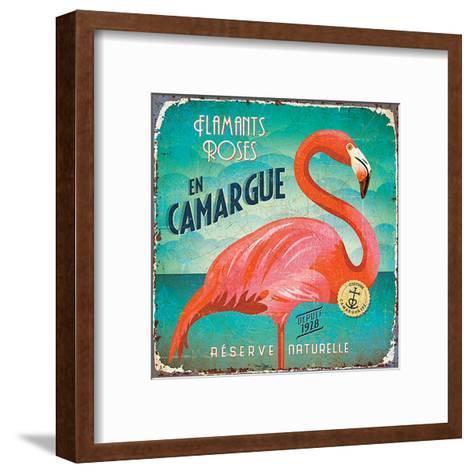 Flamants en Camargue-Bruno Pozzo-Framed Art Print