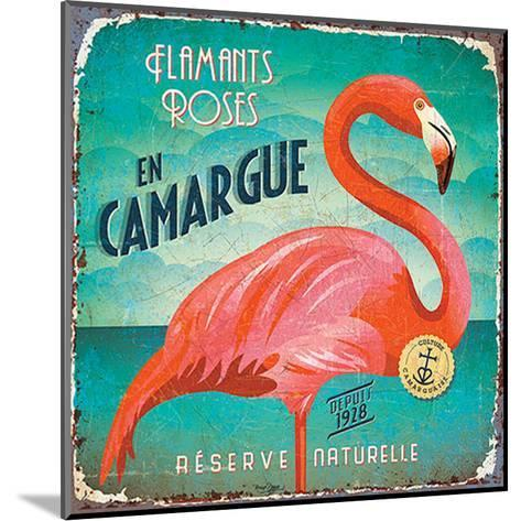 Flamants en Camargue-Bruno Pozzo-Mounted Art Print