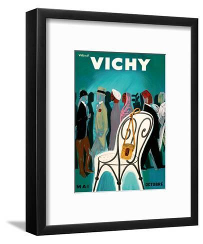 Vichy, France - Resorts and Spas - May through October (Mai-Octobre)-Bernard Villemot-Framed Art Print