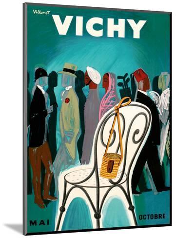 Vichy, France - Resorts and Spas - May through October (Mai-Octobre)-Bernard Villemot-Mounted Art Print