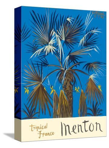 Menton - Tropical France - Palm Tree-Graham Sutherland-Stretched Canvas Print